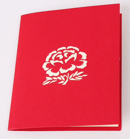 3d greeting cards single rose - 3d Greeting Cards